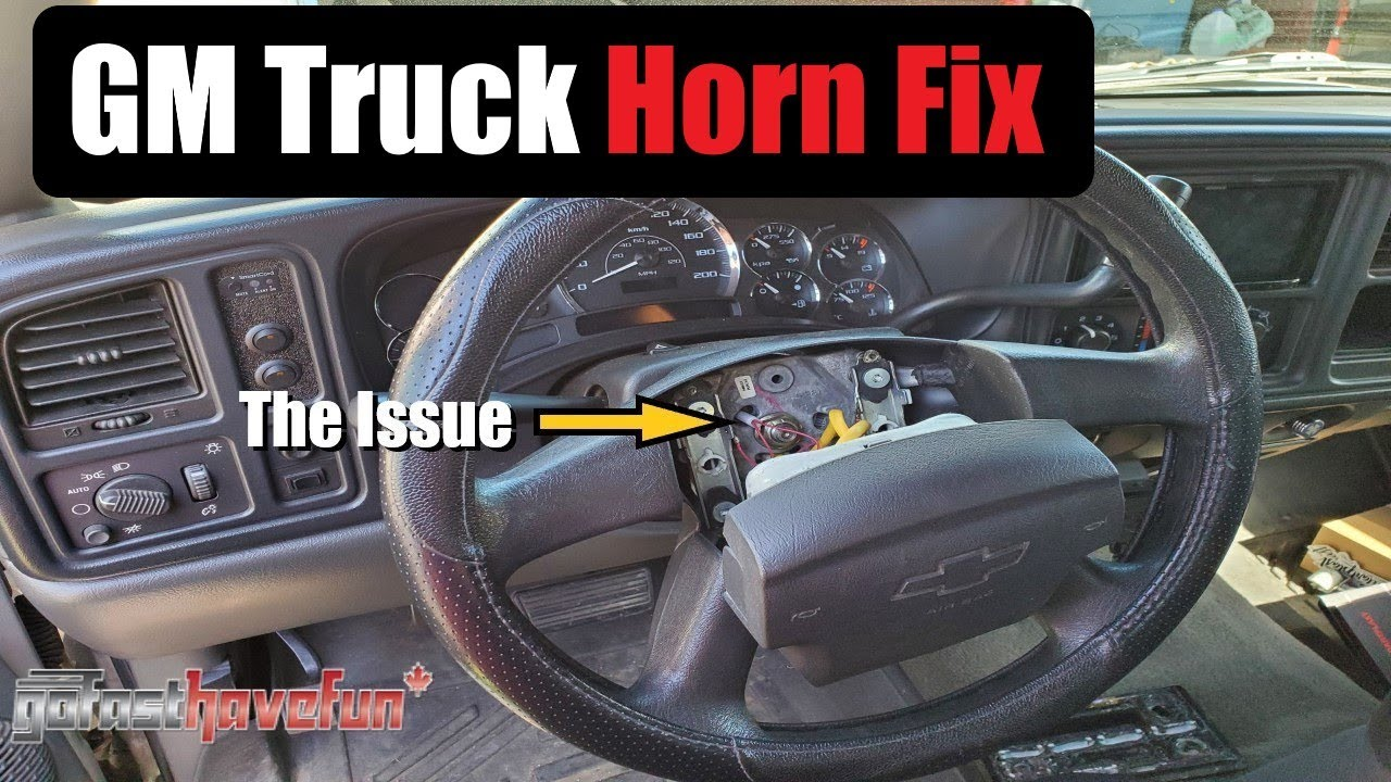 GM Truck Horn Fix  Silverado, Sierra, Tahoe, Yukon, Suburban, Escalade| AnthonyJ350  YouTube