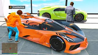 Stealing EVERY BUGATTI From The Dealership In GTA 5 RP!