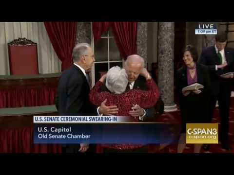 Joe Biden Kisses Chuck Grassley