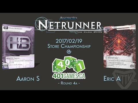 Android: Netrunner - 2017/2/19 Store Champs - R4a ETF vs. Apex