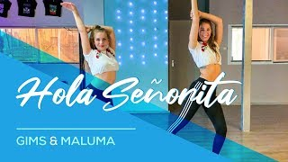 GIMS, Maluma - Hola Señorita - (Maria) Easy Fitness Dance Video Choreography