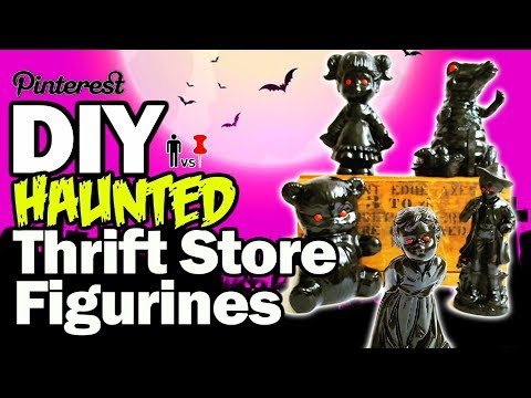 DIY Haunted Thrift Store Figurines - Man Vs Pin