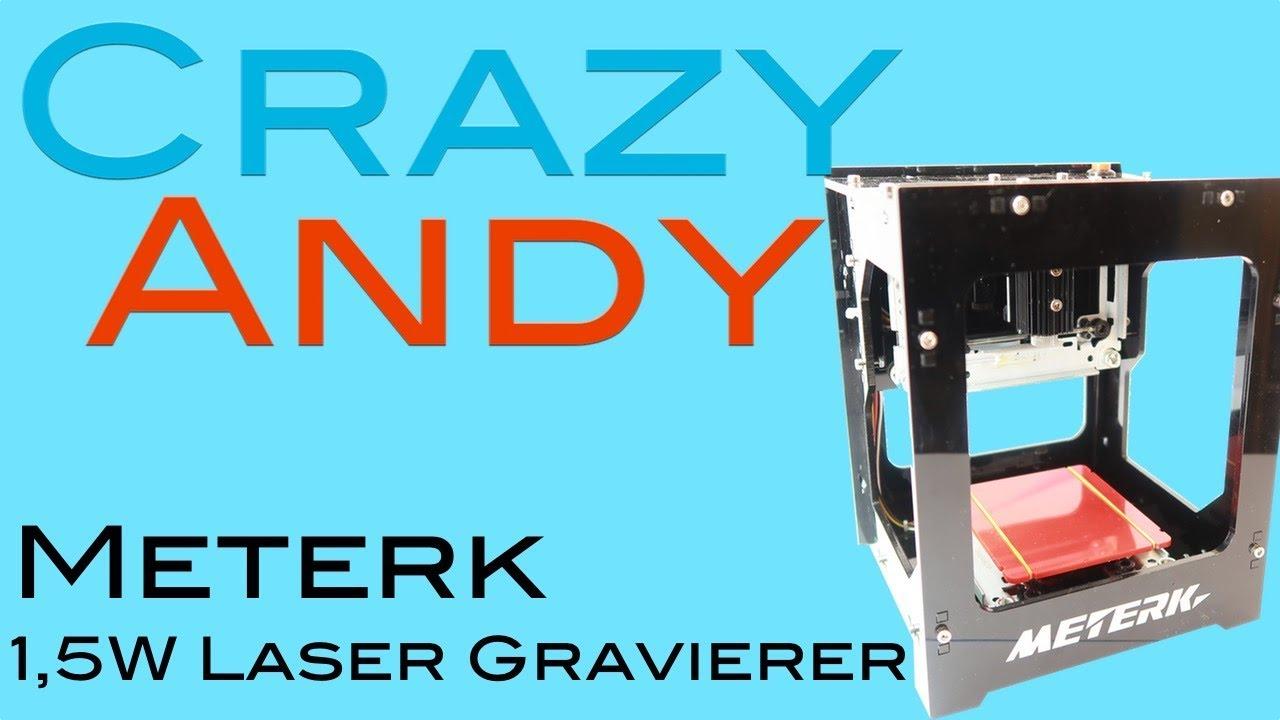meterk laser graviergerät review & test - youtube
