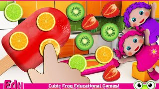 "Preschool EduKitchen Toddlers ""Cubic Frog Educational Education Games"" Android Gameplay Video"