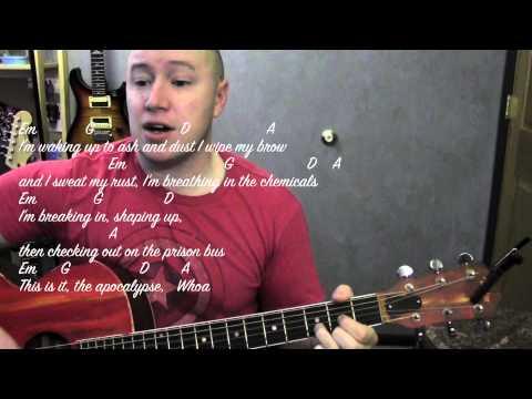 Radioactive- Guitar Lesson / Tutorial- Imagine Dragons (Standard Chord Version)