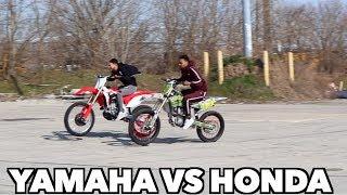 THE 450 RACE ! (HONDA VS YAMAHA)
