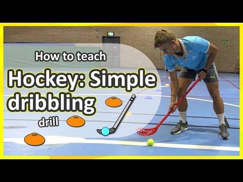 Hockey 1. Simple dribbling: Key points | Teaching Fundamentals of PE