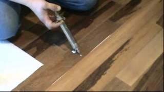6 - Oprava vydutej vlysovej podlahy lepidlom