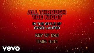 Cyndi Lauper - All Through The Night (Karaoke)