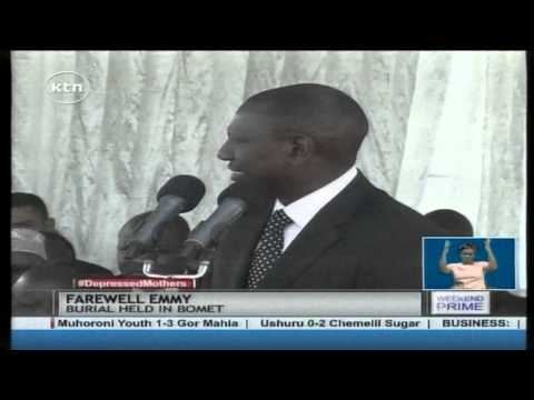 Leaders put aside their political differences and pay glowing tribute to Emmy Ruto
