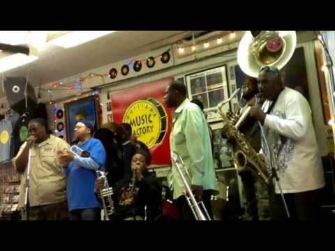 Hot 8 Brass Band - New Orleans (After The City) (live at Louisiana Music Factory)