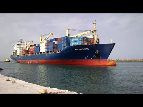 Container Vessel Berthing at Takoradi Port