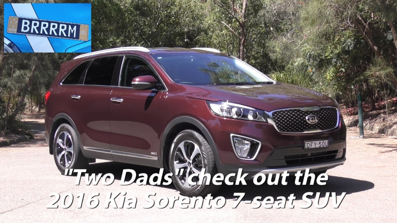 kia sorento 7 seat suv 2016 review two dads from brrrrm australia youtube. Black Bedroom Furniture Sets. Home Design Ideas