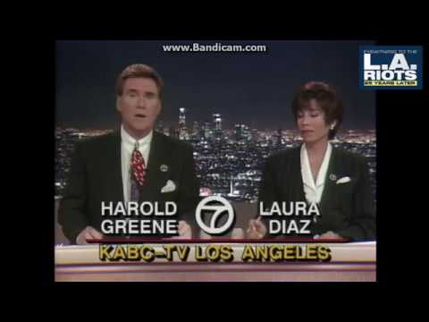 KABC 1992 6pm Open LA Riots Wall-to-Wall Coverage