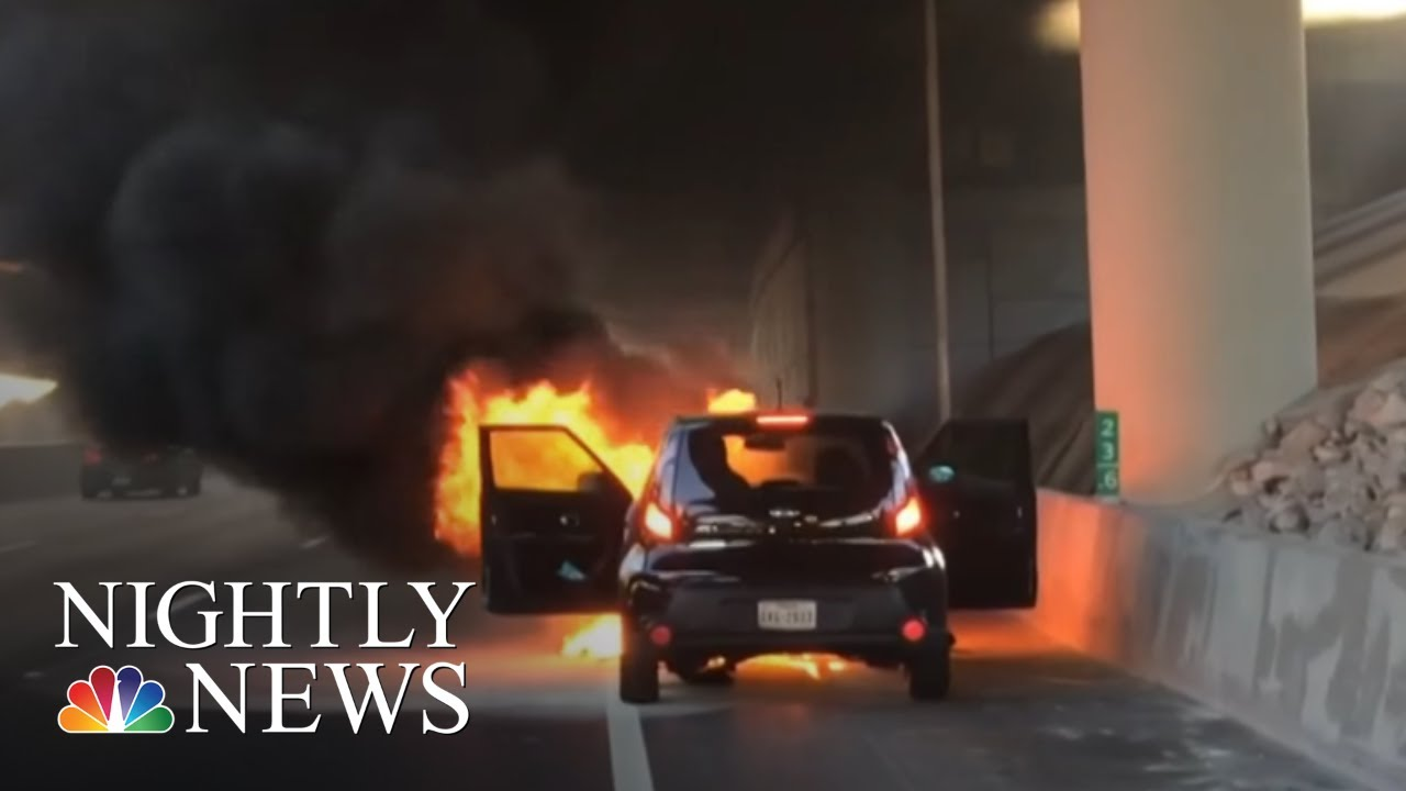 Growing Concern Over Fire Risk Involving Kia Vehicles | NBC Nightly News