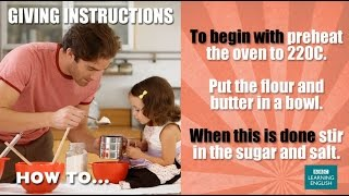 how to give instructions