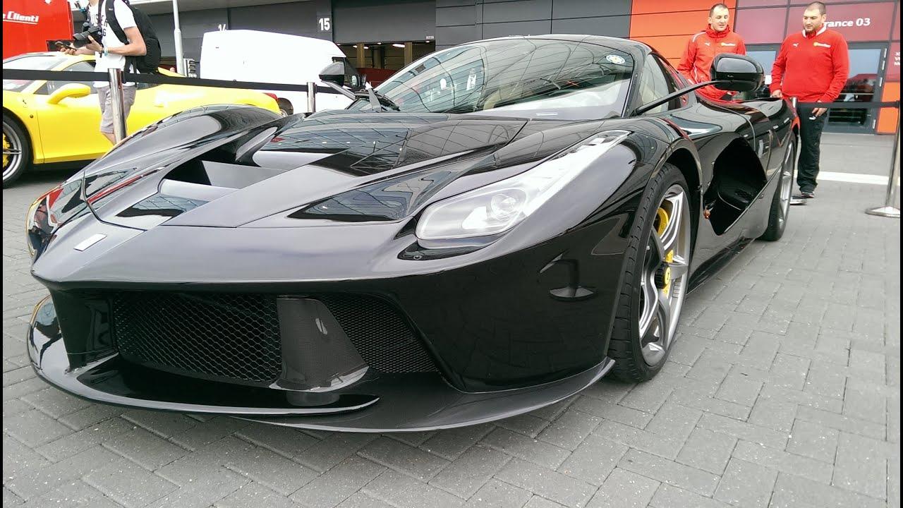 Black LaFerrari at Ferrari Racing days Silverstone | Full walkround |