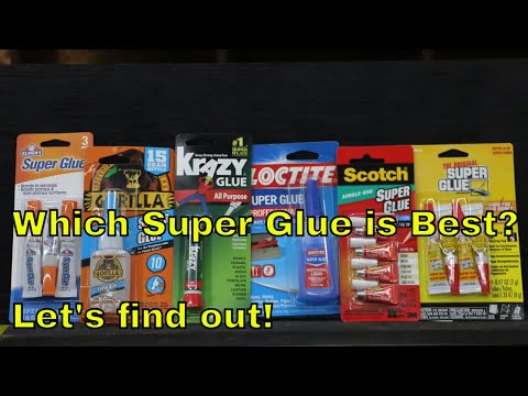 Which Super Glue Brand is the Best?  Let's find out!
