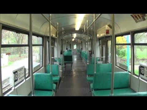 Straßenbahn Frankfurt 12 Mitfahrt Im O Wagen 111 Auf Der Linie 18