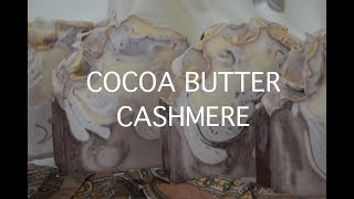 COCOA BUTTER CASHMERE ~ Making & Cutting of Cold Process Soap