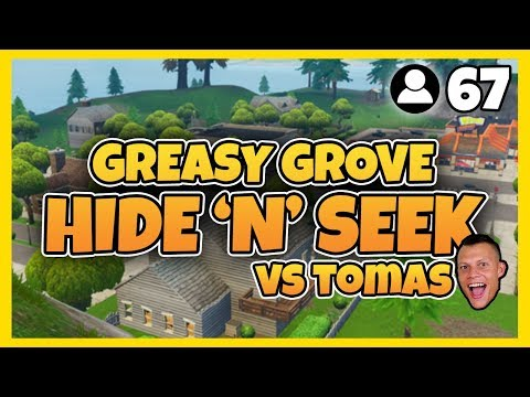 GREASY GROVE HIDE 'N' SEEK VS TOMAS (MED 67 SPELARE) | FORTNITE PÅ SVENSKA!