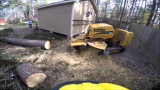 StumpAway Stump Grinding Service, SC60TX with Reverse-S Cutter Wheel and WearSharp Teeth