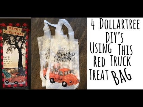 4 Dollartree DIYs Using Little Red Truck Treat Bags