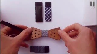 Wooden bow ties with changeable straps