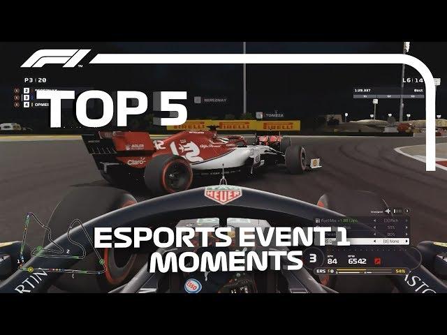 Top 5 Moments | F1 Esports Pro Series 2019 Event 1