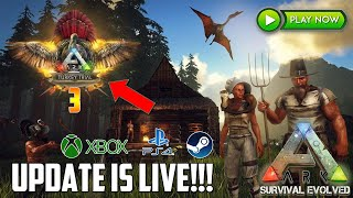 ARK *CRAZY* UPDATE IS HERE! - TURKEY TRIAL 3! - NEW DINO! - NEW ITEMS! - XBOX/PS4/PC