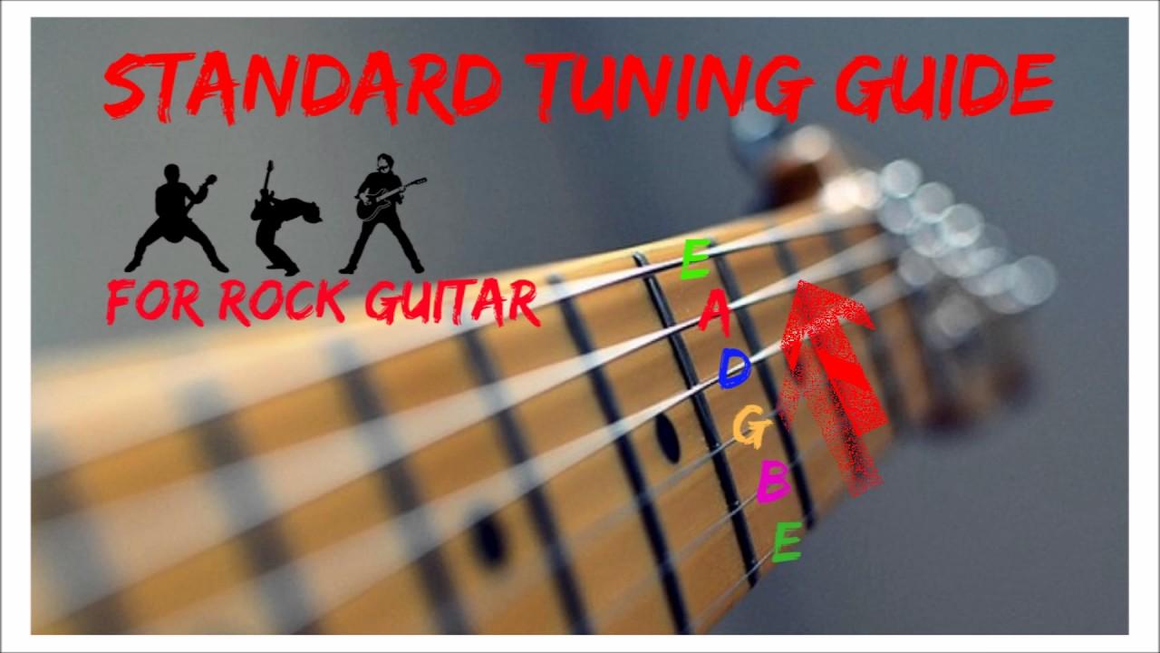 rock guitar tuner e standard tuning e a d g b e youtube. Black Bedroom Furniture Sets. Home Design Ideas