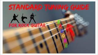 Rock Guitar Tuner -  E Standard Tuning [E A D G B E]