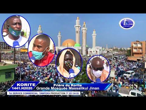 ITV  Korité 2020 à La Grande Mosquée Massalickoul Djinnane