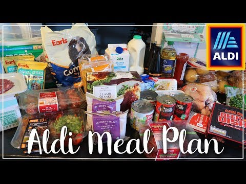HUGE ALDI HAUL MEAL PLAN FOR 4 FOR A WEEK - EASY FAMILY MEALS - LOTTE ROACH