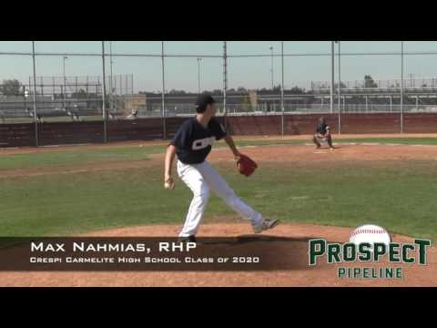 Max Nahmias Prospect Video, RHP, Crespi Carmelite High School Class of 2020