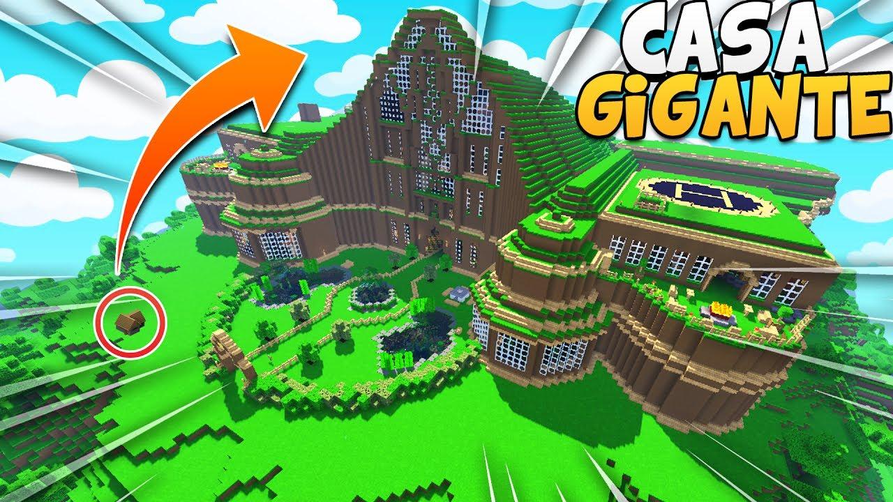 La casa di terra piu 39 grande al mondo su minecraft youtube for Disegni della casa della cabina di ceppo