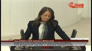 HDP İSTANBUL MİLLETVEKİLİ OYA ERSOY MECLİS KONUŞMASI-14 KASIM 2018