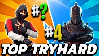 TOP 10 TRYHARDSkinS OF MAN IN FORTNITE 👦 MASCULINA SKINS THAT USE THE PROS OF FORTNITE