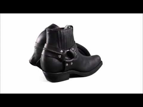 Rebel Waxy Black Leather Boots