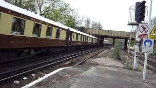 The Perfect Pan Shot. 35028 Clan Line Wanders Across Wandsworth Common. Up Vsoe 24-apr-2013