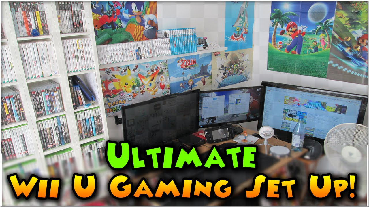 Ultimate Wii U Gaming Set Up | My Nintendo Room! - YouTube