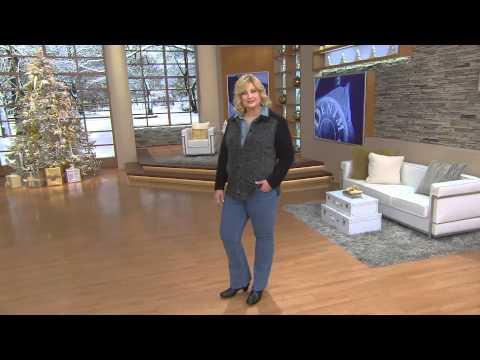"""Denim & Co. """"How Modern"""" Regular 5-Pocket Boot Cut Jeans with Gabrielle Kerr"""