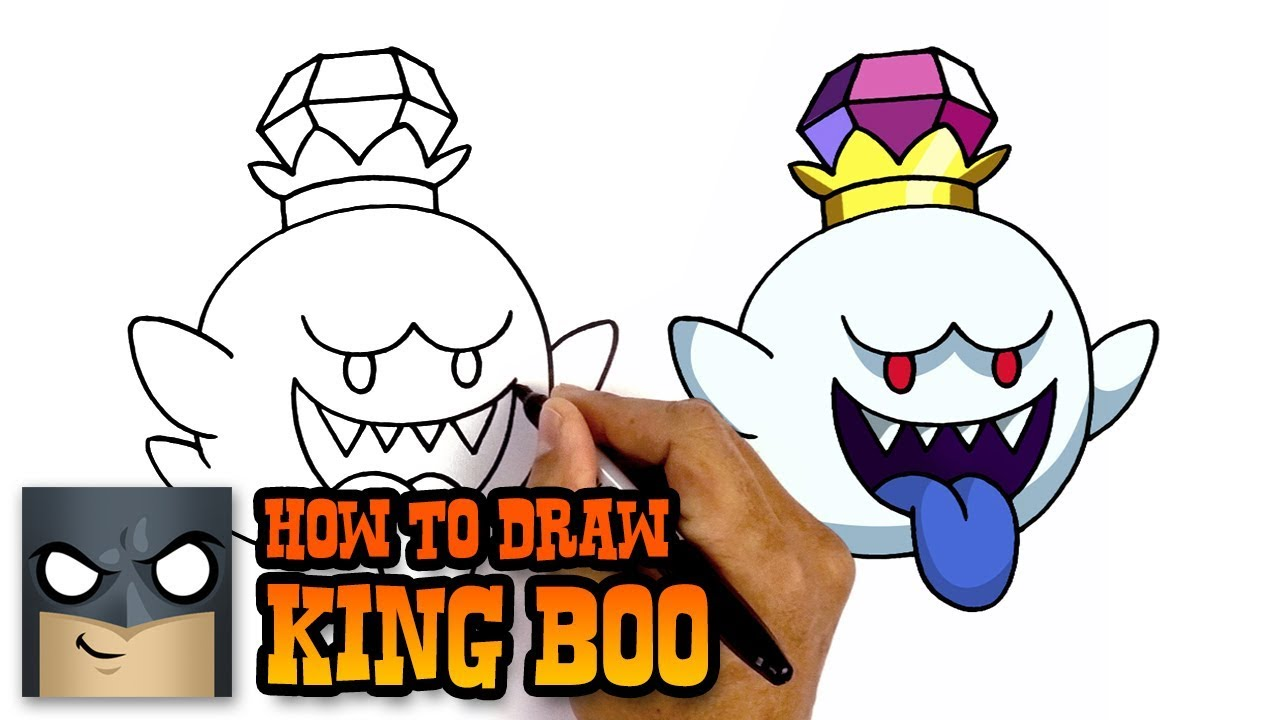 How To Draw King Boo Luigi S Mansion Awesome Step By Step Tutorial