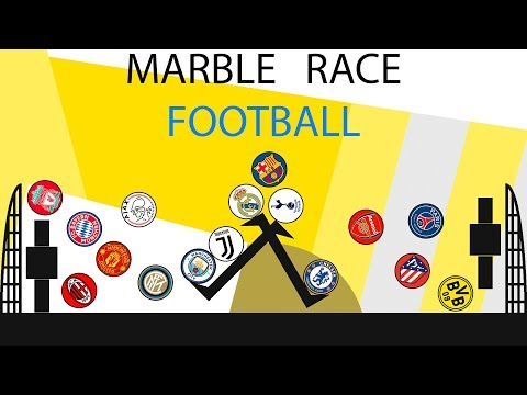 Football Clubs Beat The Keeper | Marble Race
