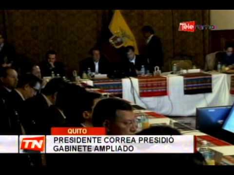 Presidente Correa presidió gabinete ampliado
