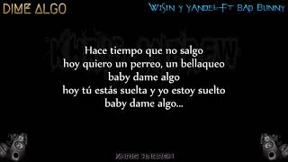 Dame Algo Wisin Y Yandel Ft Bad Bunny Letra Youtube