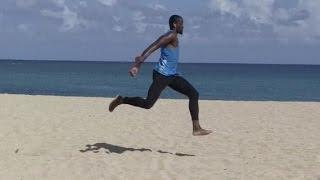 Campeón mundial salta en playas de Cuba