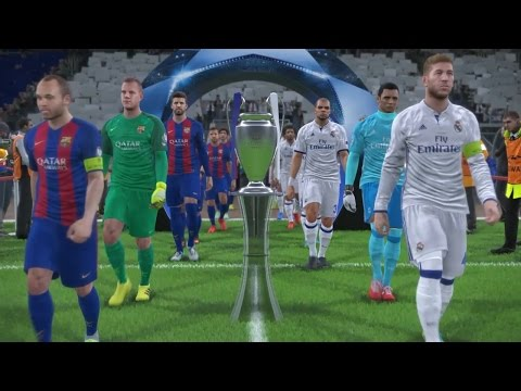 PES 2017 UEFA Champions League Final (Real Madrid vs FC Barc