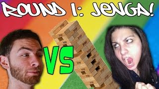 KPopp VS Whiteboy - ROUND 1: Jenga! (3 Round Tourney)