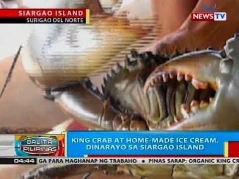 BP: King Crab at home-made ice cream, dinarayo sa Siargao Island